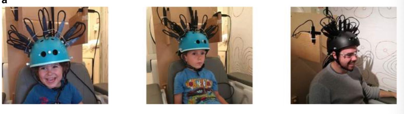 参与者使用自行车头盔穿戴式脑扫描系统。图源:《自然·通讯》.jpg