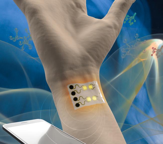 宾夕法尼亚州立大学和东北大学的研究人员已经开发出一种可穿戴式气体传感器,用于环境和人类健康监测。.png