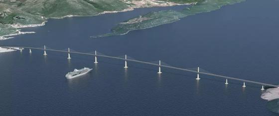 佩列莎茨跨海大桥效果图