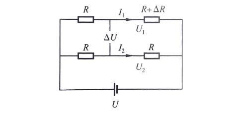 电阻应变式称重传感器的原理示意图
