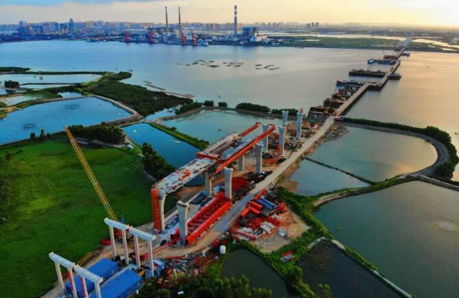 温度传感器在广东在建大桥混凝土温度监控的应用