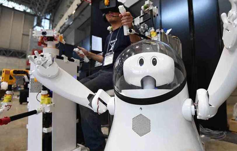 日本研发的服务机器人