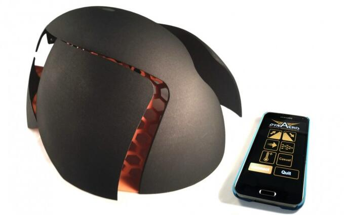 国外开发带蓝牙传感器的可变形智能头盔