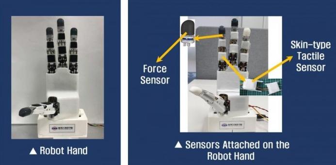 机械臂安装了指尖传感器、力传感器和触觉传感器