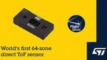 意法半导体推出首款64区ToF传感器